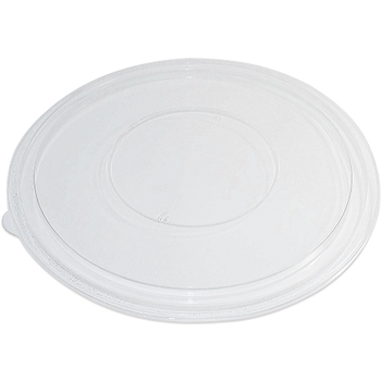 Chef's Supply Flat Round Lid, 160 oz., Clear, 50/CT