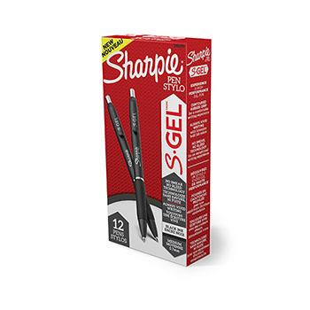 S-Gel Pen, Medium 0.7 mm, Black Ink, DZ