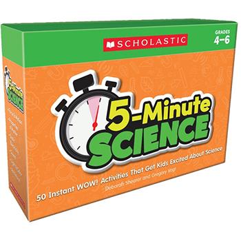 Scholastic 5-Minute Science: Grades 4-6, 50/ST
