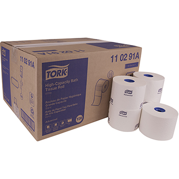 "Tork® Advanced High Capacity Bath Tissue, 1-Ply, 3.94"" W x 3.75"" L, White, 2000 Sheets/Roll, 36 Rolls/Case"