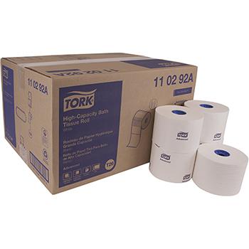 "Tork® Advanced High Capacity Bath Tissue, 2-Ply, 3.94"" W x 3.75"" L, White, 1000 Sheets/Roll, 36 Rolls/Case"