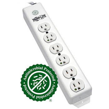 Medical-Grade Power Strip with 6 Hospital-Grade Outlets, 1.5 ft. Cord
