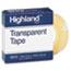 "Highland™ Transparent Tape, 1/2"" x 1296"", 1"" Core, Clear Thumbnail 1"