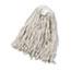 Boardwalk® Cut-End Wet Mop Head, Cotton, No. 20, White Thumbnail 1