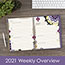 "AT-A-GLANCE® Vienna Weekly/Monthly Appointment Book, 8 1/2"" x 11"", Purple, 2021 Thumbnail 8"