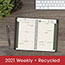 """AT-A-GLANCE® Recycled Weekly/Monthly Appointment Book, 4 7/8"""" x 8"""", Black, 2022 Thumbnail 8"""