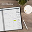 """AT-A-GLANCE® Monthly Planner, 6 7/8"""" x 8 3/4"""", Black, 2021 Thumbnail 7"""