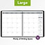 "AT-A-GLANCE® Recycled Monthly Planner, 9"" x 11"", Black, 2021 Thumbnail 6"