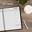 """AT-A-GLANCE® Weekly Planner Ruled for Open Scheduling, 6 3/4"""" x 8 3/4"""", Black, 2022 Thumbnail 7"""