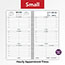 """AT-A-GLANCE® Weekly Appointment Book Refill Hourly Ruled, 3 1/4"""" x 6 1/4"""", 2021 Thumbnail 4"""