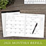 """AT-A-GLANCE® Executive Monthly Padfolio Refill, 9"""" x 11"""", White, 2021 Thumbnail 6"""