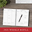 """AT-A-GLANCE® Executive® Weekly/Monthly Planner Refill, 15-Minute, 8 1/4"""" x 10 7/8"""", 2022 Thumbnail 7"""