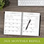 "AT-A-GLANCE® Executive® Monthly Planner Refill, 6 5/8"" x 8 3/4"", White, 2021 Thumbnail 6"
