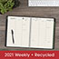 "AT-A-GLANCE® Recycled Weekly/Monthly Classic Appointment Book, 8 1/4"" x 10 7/8"", Black, 2021 Thumbnail 8"