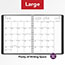 """AT-A-GLANCE® Contemporary Weekly/Monthly Planner, Column, 8 1/4"""" x 10 7/8"""", Graphite Cover, 2021 Thumbnail 8"""