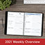 """AT-A-GLANCE® The Action Planner Weekly Appointment Book, 8 1/8"""" x 10 7/8"""", Black, 2021 Thumbnail 5"""