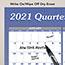 "AT-A-GLANCE® Vertical/Horizontal Erasable Wall Planner, 24"" x 36"", 2021 Thumbnail 4"