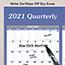 "AT-A-GLANCE® Vertical/Horizontal Erasable Wall Planner, 32"" x 48"", 2021 Thumbnail 4"