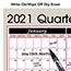 "AT-A-GLANCE® Vertical/Horizontal Erasable Quarterly Wall Planner, 24"" x 36"", 2021 Thumbnail 4"