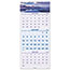 "AT-A-GLANCE® Scenic Three-Month Wall Calendar, 12"" x 27"", 2021-2022 Thumbnail 1"