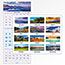 "AT-A-GLANCE® Scenic Three-Month Wall Calendar, 12"" x 27"", 2021-2022 Thumbnail 4"