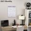 """AT-A-GLANCE® Monthly Wall Calendar with Ruled Daily Blocks, 8"""" x 11"""", White, 2021 Thumbnail 5"""