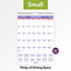 """AT-A-GLANCE® Monthly Wall Calendar with Ruled Daily Blocks, 8"""" x 11"""", White, 2021 Thumbnail 4"""