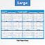 "AT-A-GLANCE® Horizontal Erasable Wall Planner, 36"" x 24"", Blue/White, 2021 Thumbnail 5"