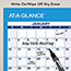 "AT-A-GLANCE® Horizontal Erasable Wall Planner, 36"" x 24"", Blue/White, 2021 Thumbnail 4"