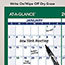 "AT-A-GLANCE® Vertical Erasable Wall Planner, 24"" x 36"", 2021 Thumbnail 4"