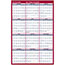 """AT-A-GLANCE® Erasable Vertical/Horizontal Wall Planner, 24"""" x 36"""", Blue/Red, 2021 Thumbnail 1"""