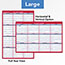 """AT-A-GLANCE® Erasable Vertical/Horizontal Wall Planner, 24"""" x 36"""", Blue/Red, 2021 Thumbnail 5"""