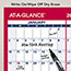 """AT-A-GLANCE® Erasable Vertical/Horizontal Wall Planner, 24"""" x 36"""", Blue/Red, 2021 Thumbnail 4"""