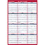 """AT-A-GLANCE® Erasable Vertical/Horizontal Wall Planner, 24"""" x 36"""", Blue/Red, 2021 Thumbnail 3"""
