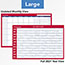 """AT-A-GLANCE® Horizontal Erasable Wall Planner, 36"""" x 24"""", White/Red, 2021 Thumbnail 4"""