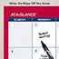 """AT-A-GLANCE® Horizontal Erasable Wall Planner, 36"""" x 24"""", White/Red, 2021 Thumbnail 3"""