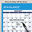 """AT-A-GLANCE® Erasable Vertical/Horizontal Wall Planner, 32"""" x 48"""", Blue/Red, 2021 Thumbnail 5"""