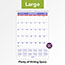 "AT-A-GLANCE® Monthly Wall Calendar with Ruled Daily Blocks, 15 1/2"" x 22 3/4"", White, 2021 Thumbnail 4"