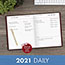 """AT-A-GLANCE® Standard Daily Diary, Recycled, Red, 7 1/2"""" x 9 7/16"""", 2021 Thumbnail 6"""