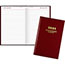 """AT-A-GLANCE® Standard Diary Daily Diary, Recycled, Red, 7 11/16"""" x 12 1/8"""", 2021 Thumbnail 1"""