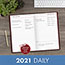 """AT-A-GLANCE® Standard Diary Daily Diary, Recycled, Red, 7 11/16"""" x 12 1/8"""", 2021 Thumbnail 7"""