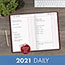 """AT-A-GLANCE® Standard Diary Recycled Daily Journal, Red, 7 11/16"""" x 12 1/8"""", 2022 Thumbnail 7"""