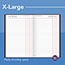 """AT-A-GLANCE® Standard Diary Recycled Daily Journal, Red, 7 11/16"""" x 12 1/8"""", 2022 Thumbnail 6"""