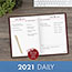 """AT-A-GLANCE® Standard Diary Recycled Daily Reminder, Red, 5 3/4"""" x 8 1/4"""", 2021 Thumbnail 7"""