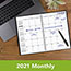 """AT-A-GLANCE® DayMinder® Monthly Planner, 7 7/8"""" x 11 7/8"""", Black Two-Piece Cover, 2021-2022 Thumbnail 7"""
