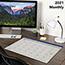 "AT-A-GLANCE® Fashion Color Desk Pad, 22"" x 17"", Blue, 2021 Thumbnail 5"