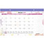 "AT-A-GLANCE® Watercolors Recycled Monthly Desk Pad Calendar, 17 3/4"" x 10 7/8"", 2021 Thumbnail 1"