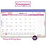 "AT-A-GLANCE® Watercolors Recycled Monthly Desk Pad Calendar, 17 3/4"" x 10 7/8"", 2021 Thumbnail 4"