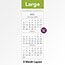 """AT-A-GLANCE® Three-Month Reference Wall Calendar, 12"""" x 27"""", 2021-2022 Thumbnail 3"""