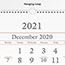 """AT-A-GLANCE® Three-Month Reference Wall Calendar, 12"""" x 27"""", 2021-2022 Thumbnail 2"""